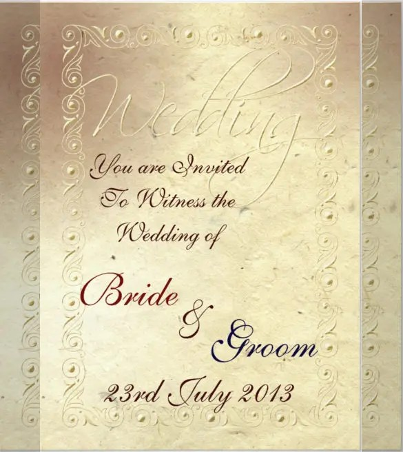 Faded Ivory Handmade Wedding Invitation