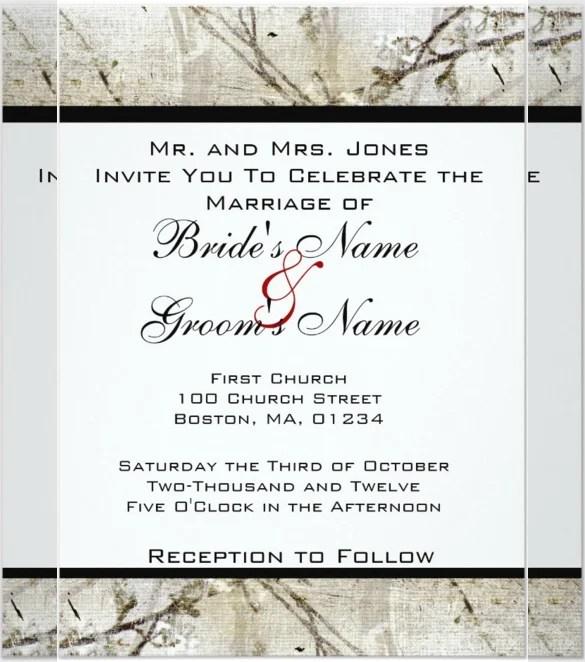 Simple Handmade Wedding Invitation Template