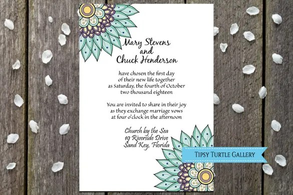 Make Your Wedding Invitation Look Gloriously Beautiful With This Plain And Yet Theme That Has A Fl Design Goes Well