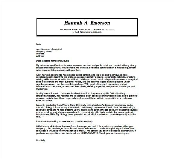 Cover Letter Healthcare