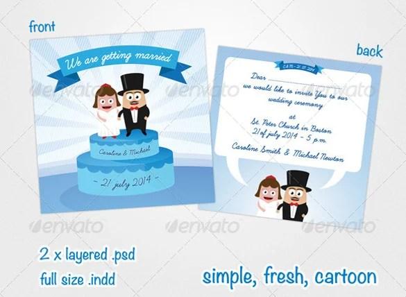 Fresh And Funny Wedding Invitation