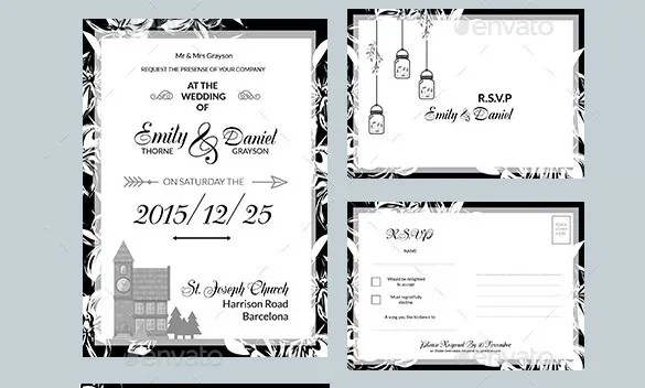 Tri Fold Wedding Invitations With Ribbon