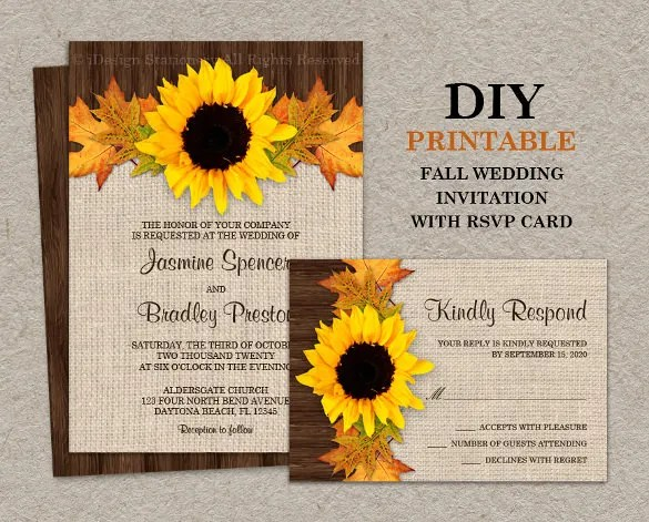 Fall Sunflower Wedding Invitation Are Sure To Light Up Guests Day Invite Them With These Cards And Provide The Necessary Details Make It