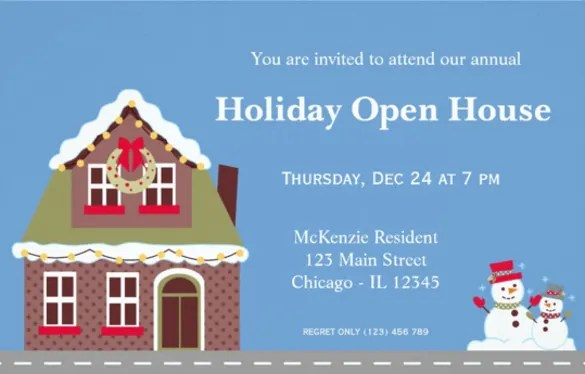 25 Open House Invitation Templates Free Sample Example