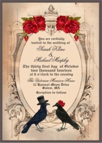 halloween wedding card