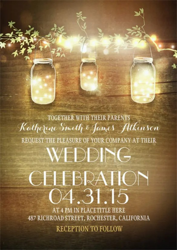 33 Traditional Wedding Invitation Templates Free Sample