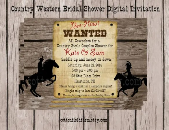 If Your Wedding Ceremony Is Around A Farmhouse Or Ranch Even Just At The Wild Countryside You Can Mention It In Funny Way By Using This Western