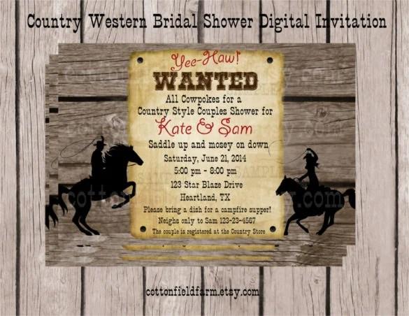 Western Wedding Invitation Templates Free Sle Exle Invitations