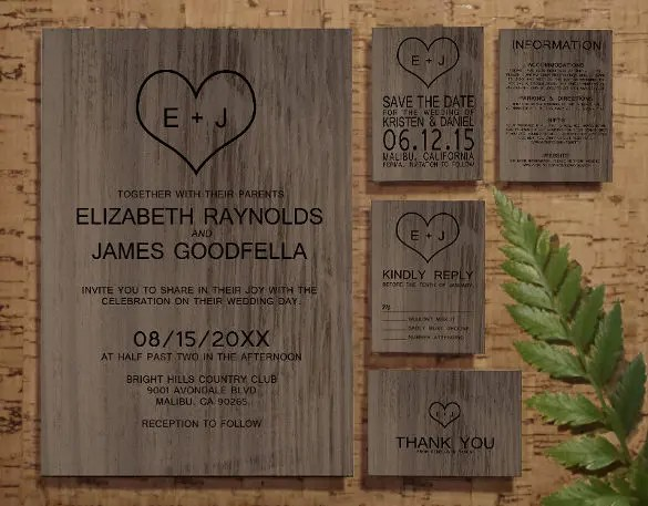 Simple Country Wedding Invitations
