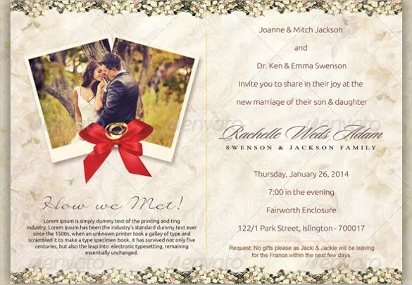 Vine Postcard Wedding Invitation Templates