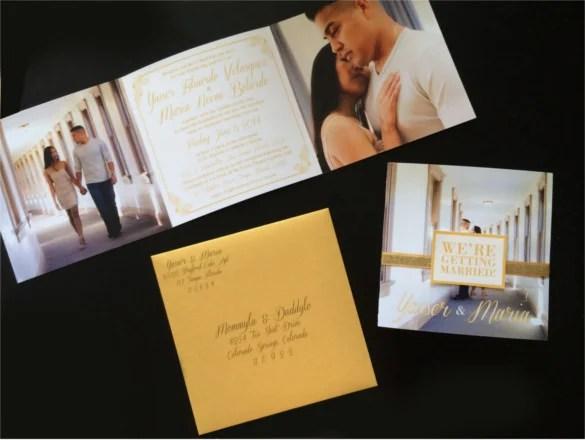 Tri Fold Wedding Invitations Source Elizabethannedesigns Com