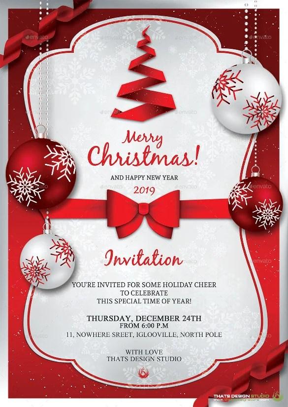 Rreedd Christmas Invitation Template