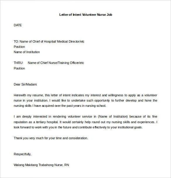 sample letter of intent for job application teacher docoments ojazlink