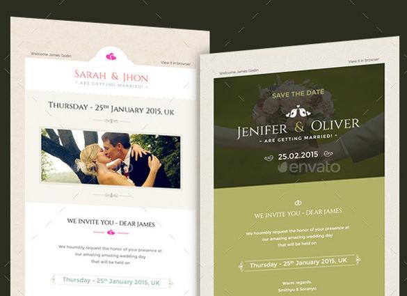Smart Wedding Invitation Email Templates