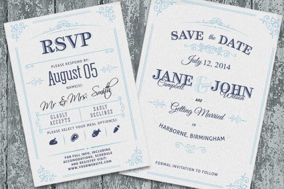 Unique Simple Wedding Invitation Wording Template