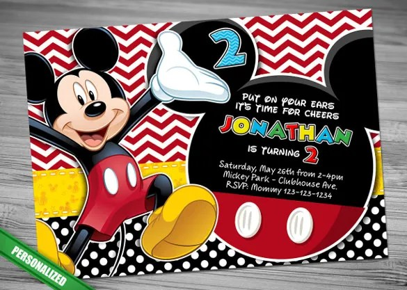 31 mickey mouse invitation templates