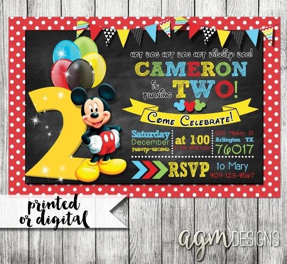 31 mickey mouse invitation templates