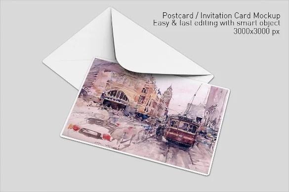 Photo Postcard Template 20 Free PSD Vector EPS AI