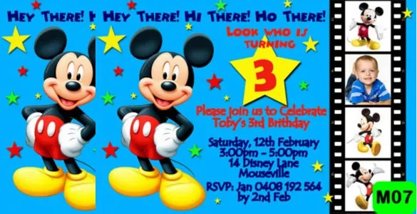mickey mouse birthday party invitation maker Cogimbous – Mickey Mouse 1st Birthday Party Invitations