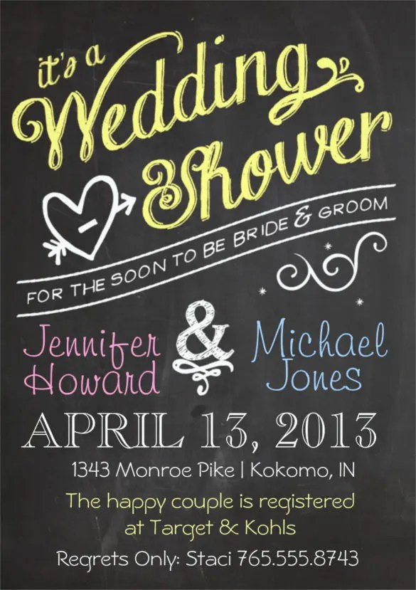 27 Wedding Shower Invitation Templates Free Sample Example Format Download Free Premium