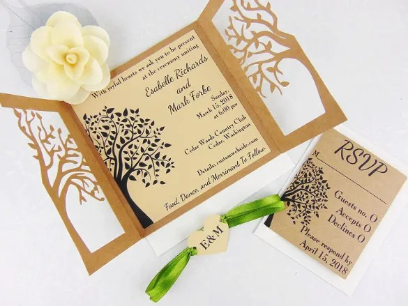 Do It Yourself Laser Cut Wedding Invitations