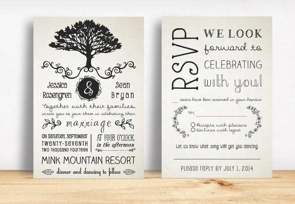 Free Rustic Wedding Invitation Templates: Country Wedding Invitation Templates