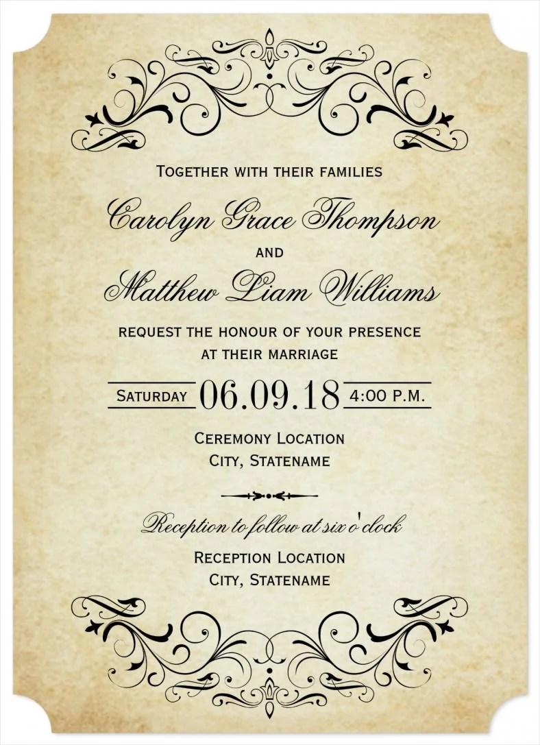 Elegant Flourish Wedding Invitation Template