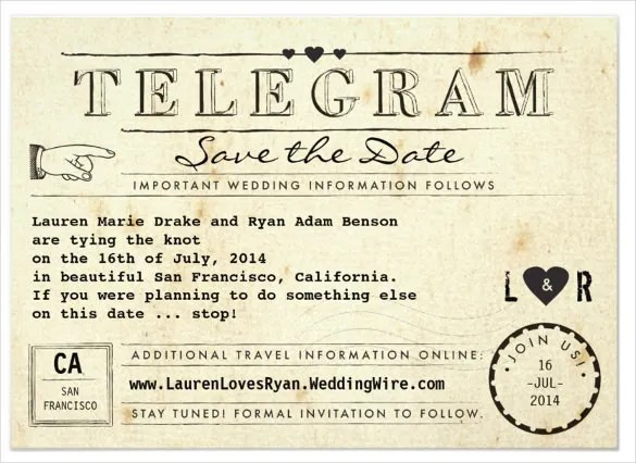Get This Wedding Invitation Template Ed And Create A Unique Vintage Style Card Design For You Its Size Features Include 6x4