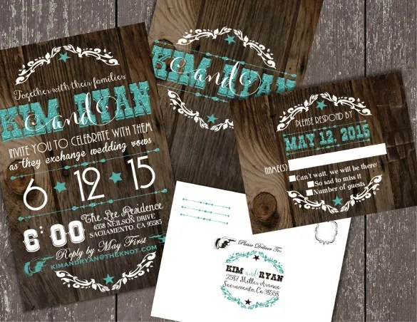 Rustic Wedding Invitation Envelopes