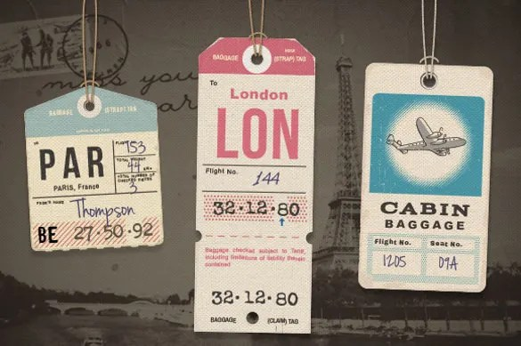 24 Luggage Tag Templates Free Sample Example Format Download Free Amp Premium Templates