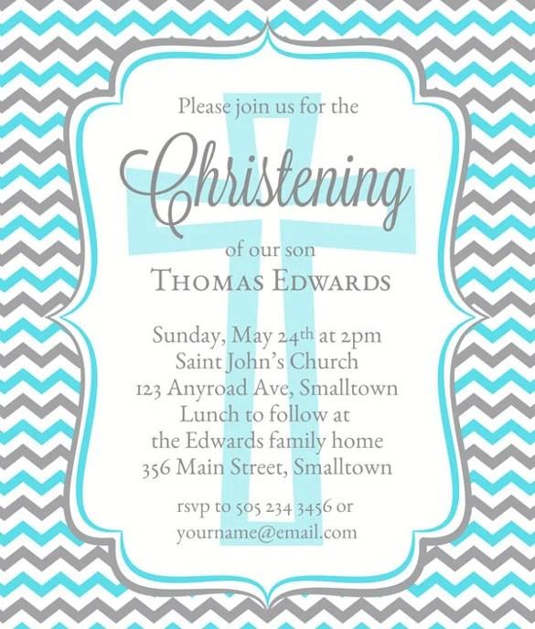 Baptism Naming Ceremony Invitation