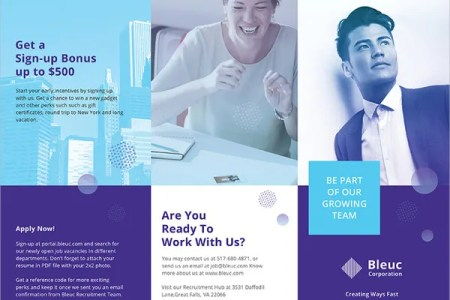 recruitment brochure template   Keni candlecomfortzone com recruitment brochure template