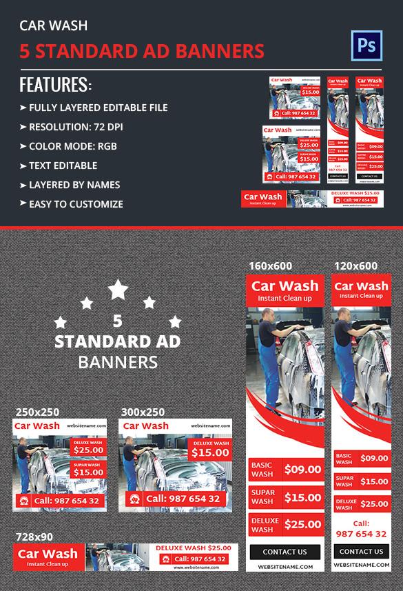 Car Wash Ad Banner Free Premium Templates