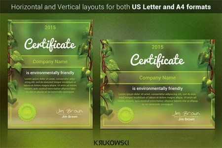 83  PSD Certificate Templates   Free   Premium Templates Download Natural Certificate Template PSD Design