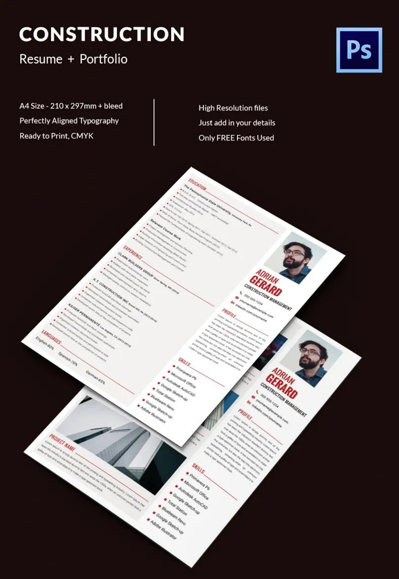 Creative Resume Template 79 Free Samples Examples Format Download Free Premium Templates