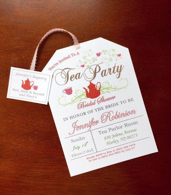 Printable Tea Party Invitations