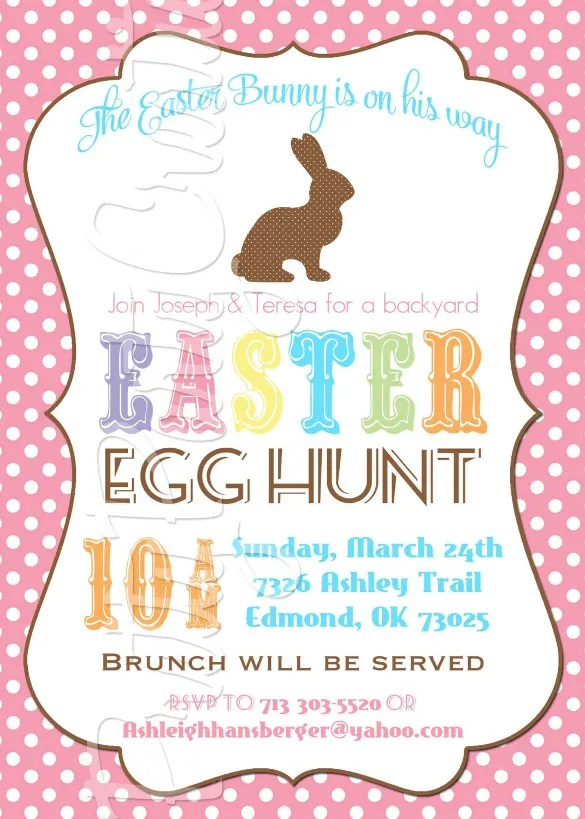 easter egg invitation wording Cogimbous – Easter Invitations Template
