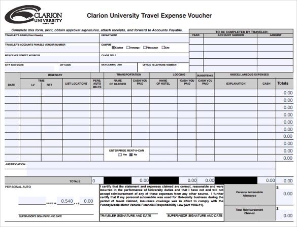 travel voucher sample. Black Bedroom Furniture Sets. Home Design Ideas