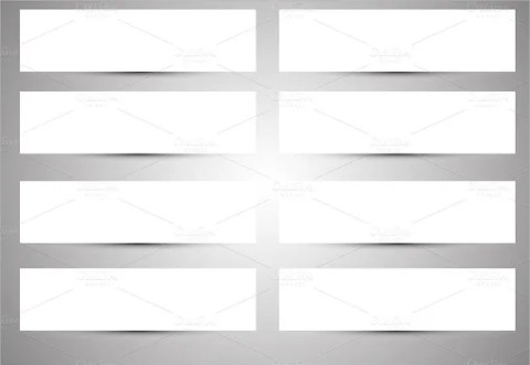 Shadow Sample Blank Banner Template