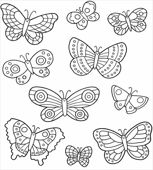 28 Butterfly Templates Printable Crafts Amp Colouring