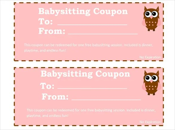 12 Baby Sitting Coupon Templates PSD AI InDesign Word Free Premium Templates
