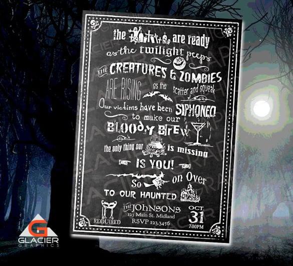 Chalkboard Invitation Template 43 Free JPG PSD