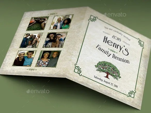 34 Family Reunion Invitation Template Free PSD Vector