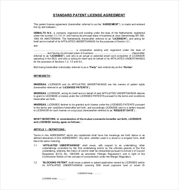 But to avoid later disputes when using an agreement template, it's. 35 License Agreement Templates Free Word Pdf Format Download Free Premium Templates