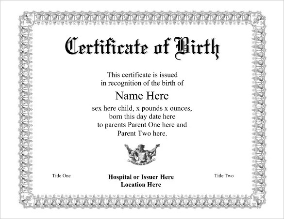 Official birth certificate template free download yelopaper Images