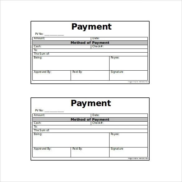 7 free cash payment voucher templates free download altavistaventures Choice Image