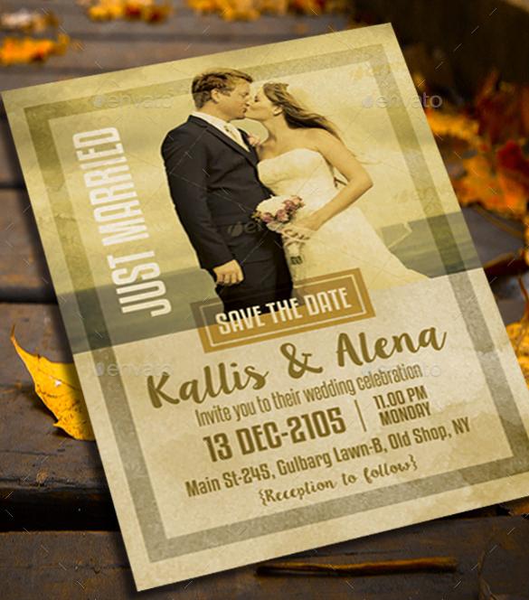 Boho Rustic Country Theme Wedding Invitation