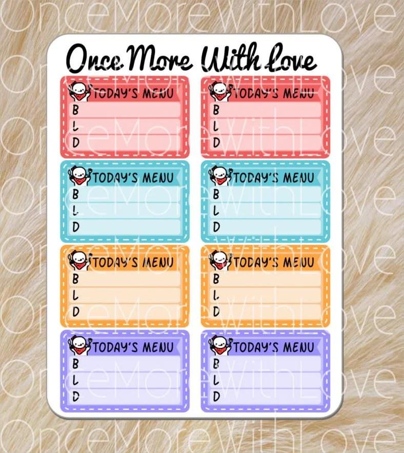 blank menu templates free