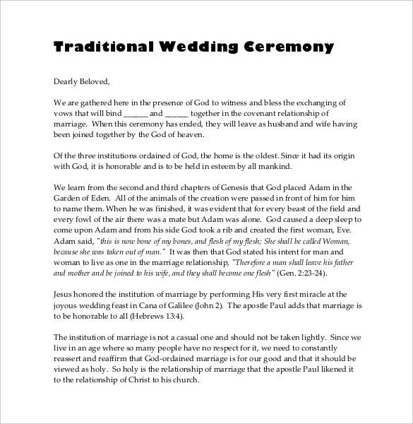 Spiritual Wedding Ceremony Script