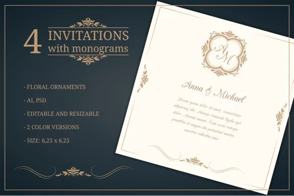 Editable Wedding Invitation Template For